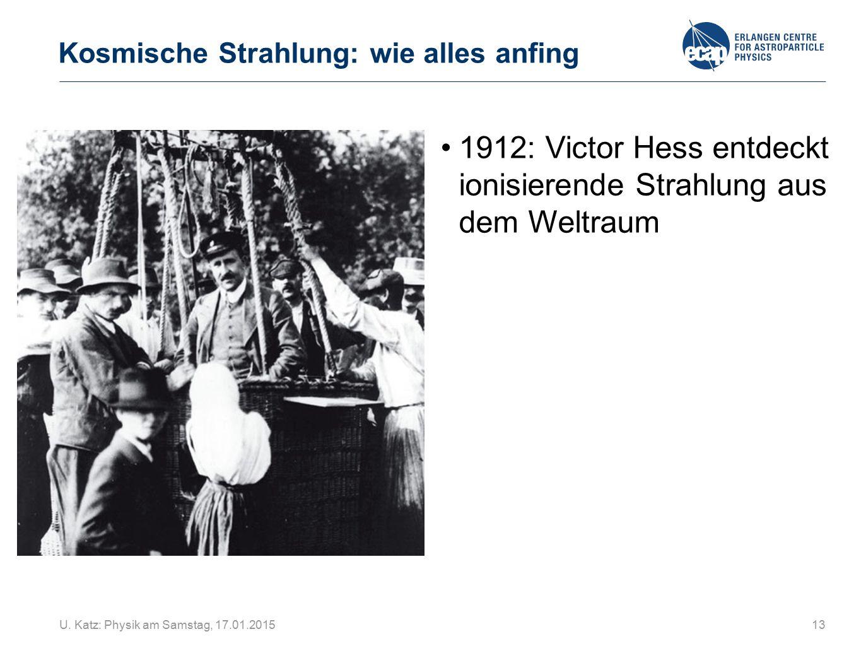 1912: Victor Hess entdeckt ionisierende Strahlung aus dem Weltraum