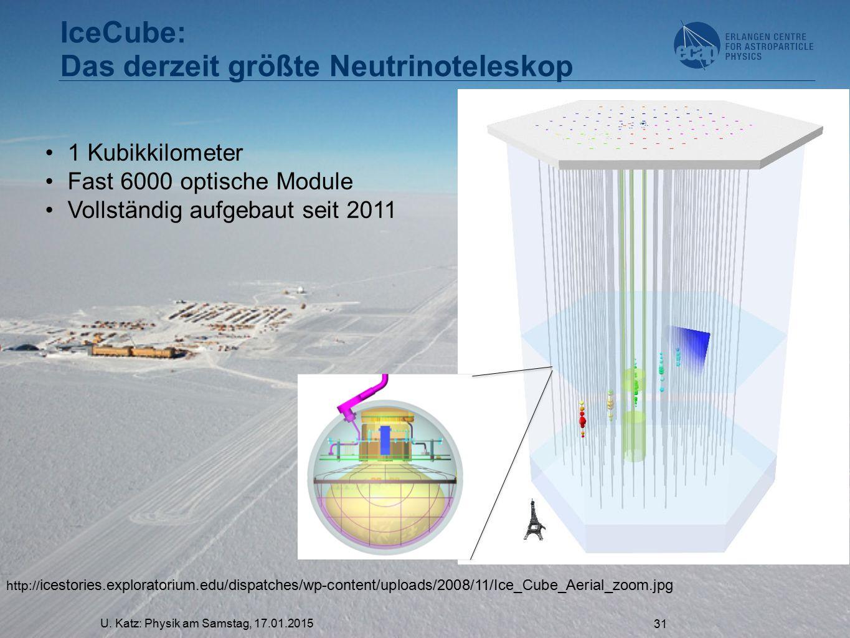 IceCube: Das derzeit größte Neutrinoteleskop