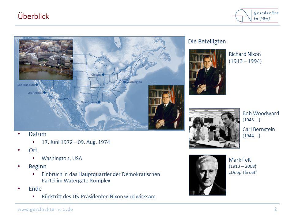 Überblick Die Beteiligten Datum Ort Beginn Ende Richard Nixon