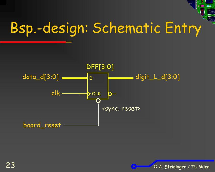 Bsp.-design: Schematic Entry