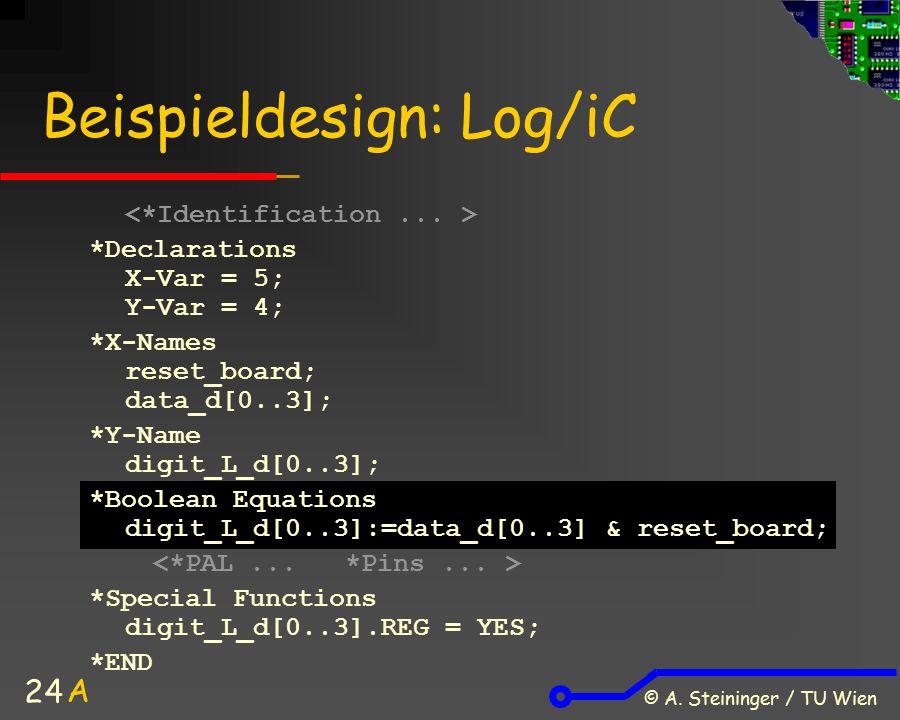 Beispieldesign: Log/iC