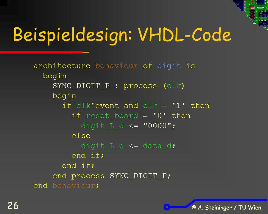 Beispieldesign: VHDL-Code