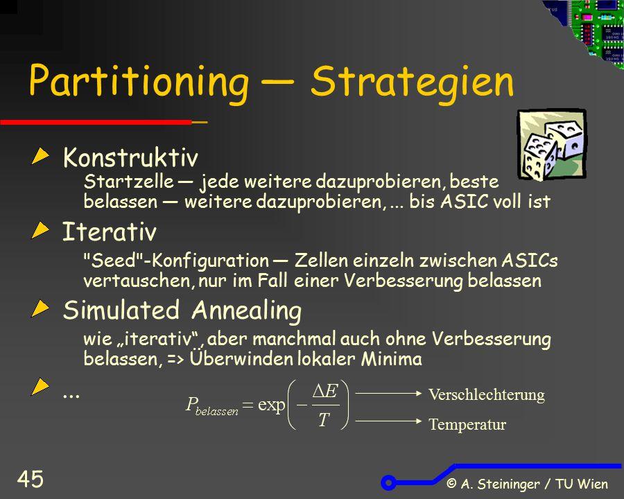 Partitioning ― Strategien