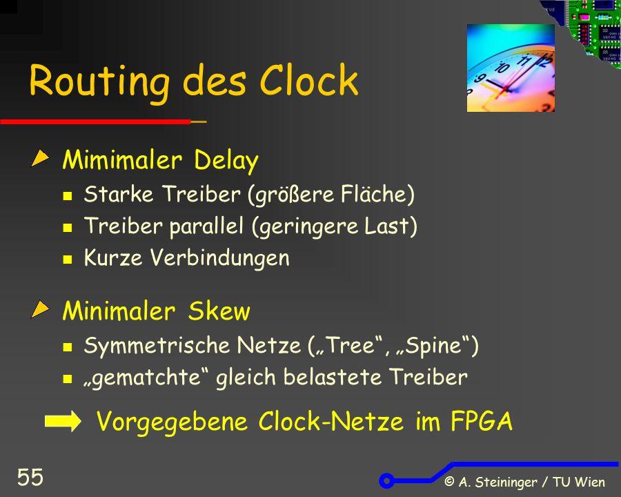 Routing des Clock Mimimaler Delay Minimaler Skew