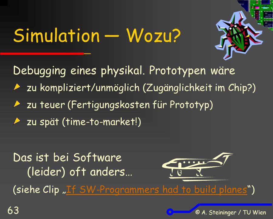 Simulation ― Wozu Debugging eines physikal. Prototypen wäre