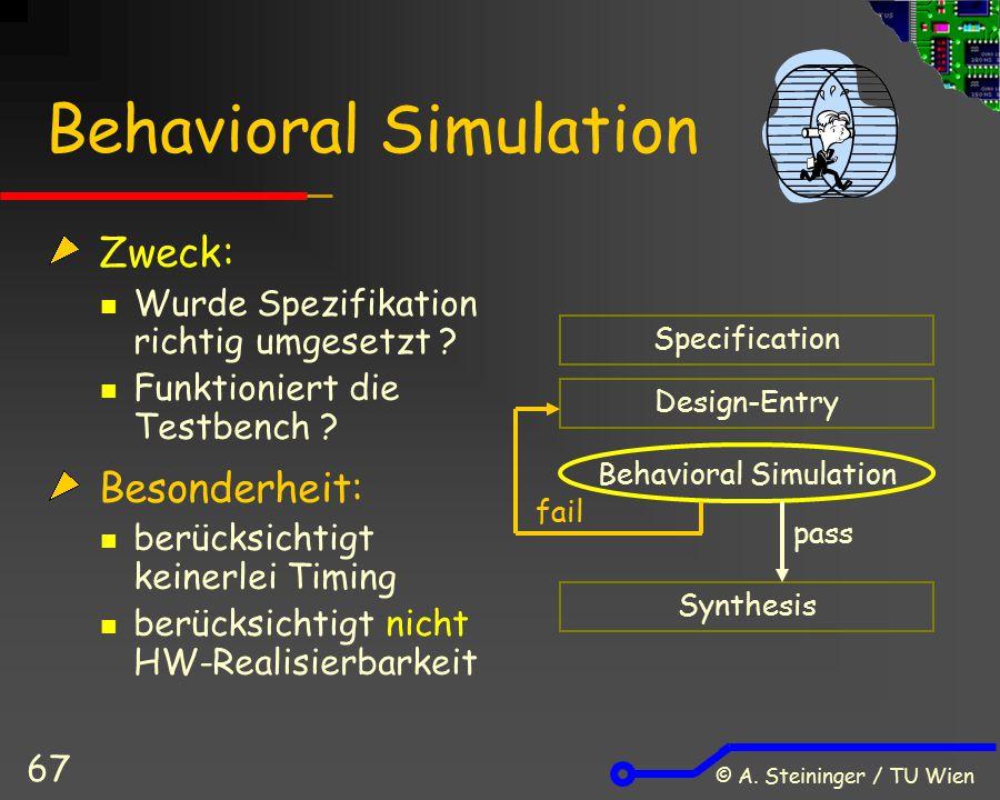 Behavioral Simulation