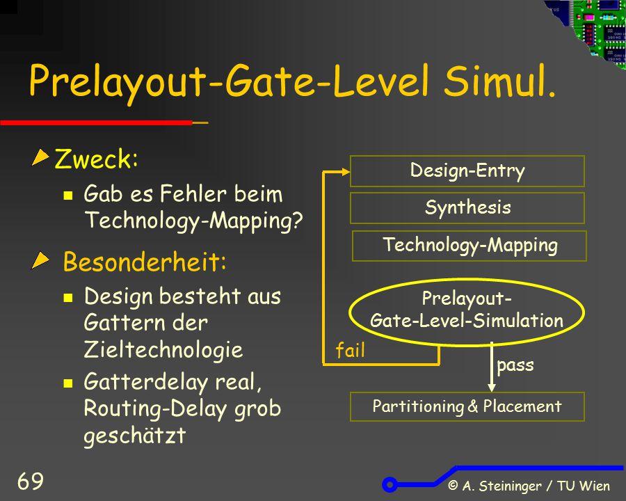 Prelayout-Gate-Level Simul.