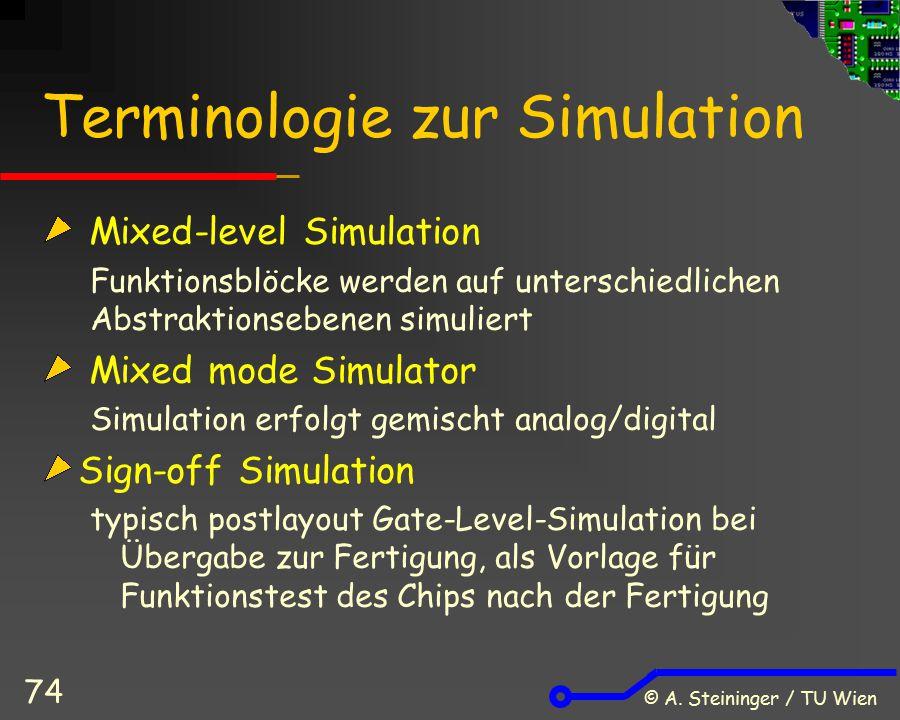 Terminologie zur Simulation