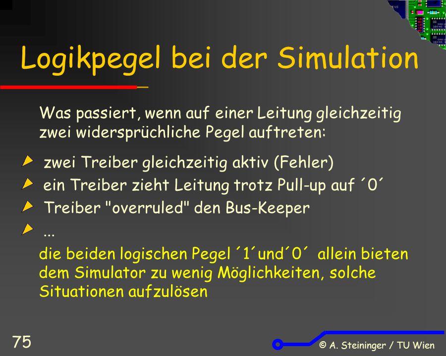 Logikpegel bei der Simulation