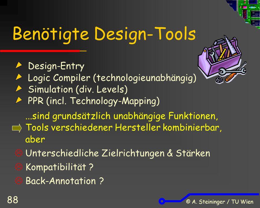 Benötigte Design-Tools