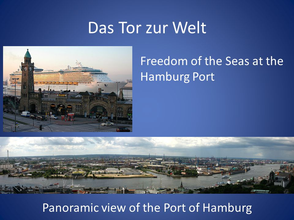 Panoramic view of the Port of Hamburg