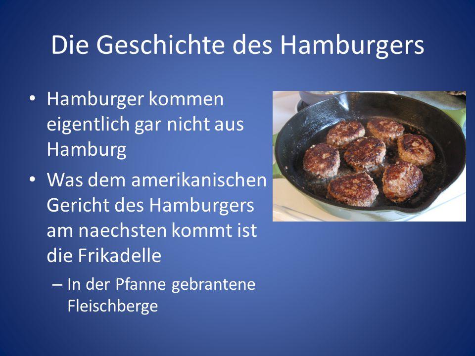Die Geschichte des Hamburgers