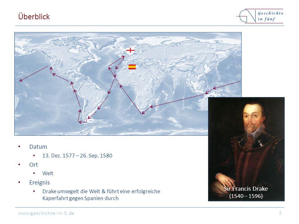 Überblick Datum Ort Ereignis Sir Francis Drake
