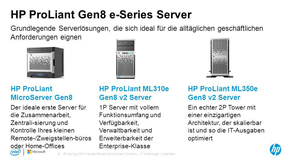 HP ProLiant Gen8 e-Series Server