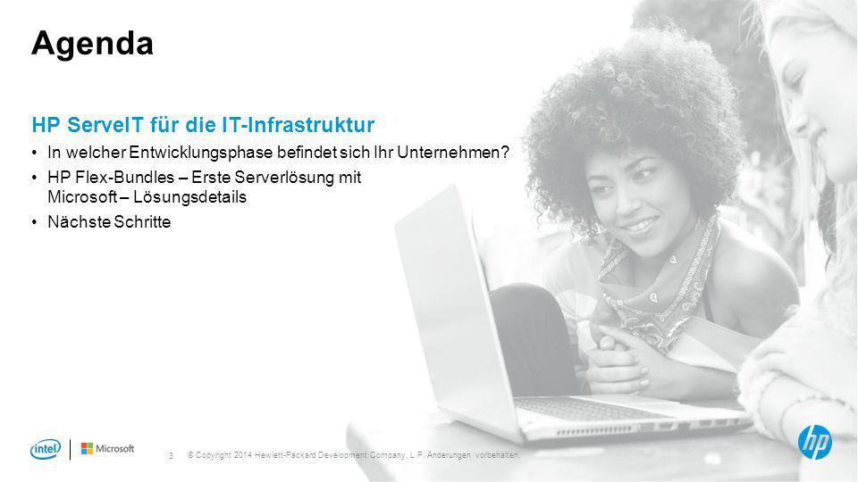 Agenda HP ServeIT für die IT-Infrastruktur