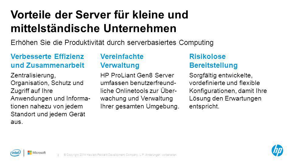 Vorteile der Server für kleine und mittelständische Unternehmen