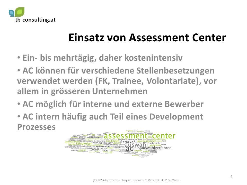 Einsatz von Assessment Center