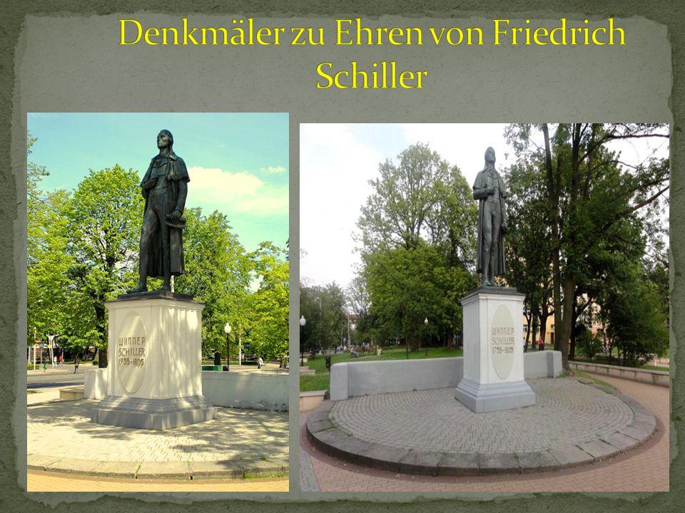 Denkmäler zu Ehren von Friedrich Schiller