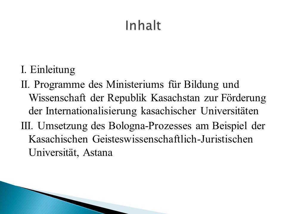 Inhalt I. Einleitung.