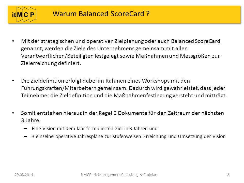 Warum Balanced ScoreCard