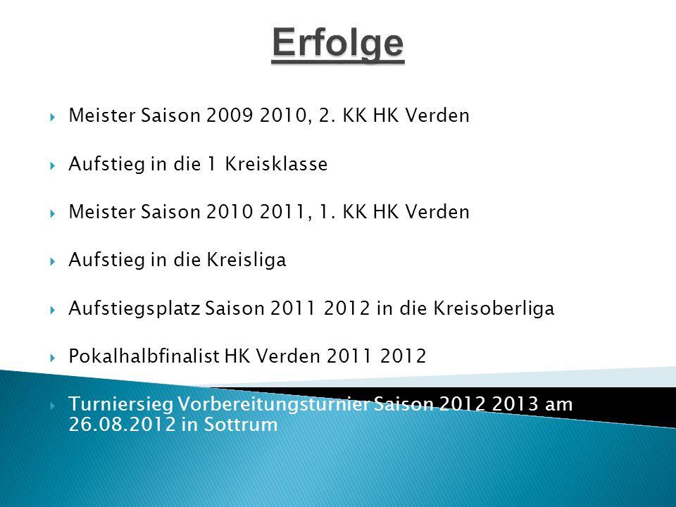 Erfolge Meister Saison 2009 2010, 2. KK HK Verden