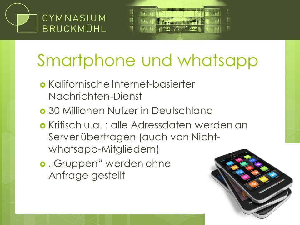 Smartphone und whatsapp