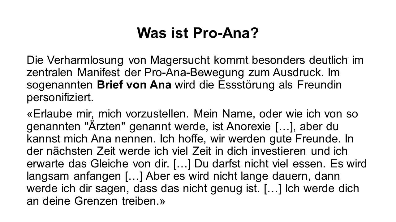 Was ist Pro-Ana