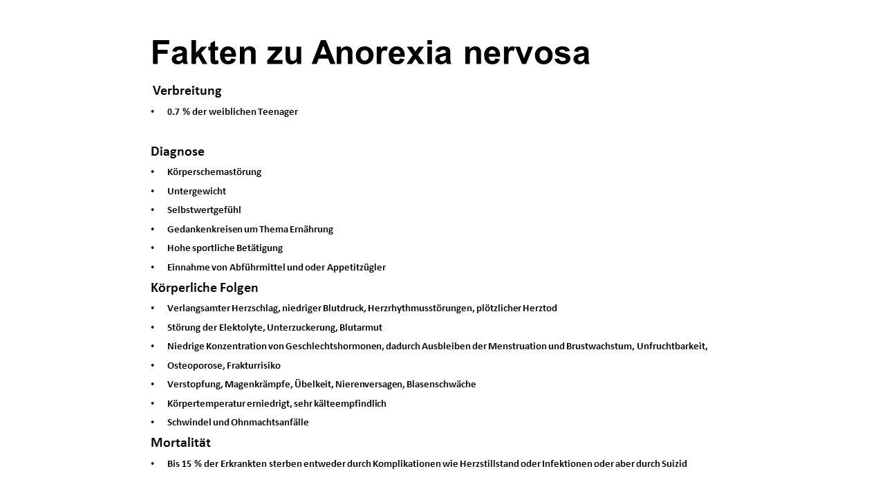 Fakten zu Anorexia nervosa