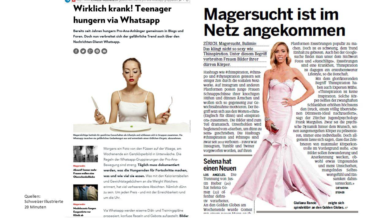 Quellen: Schweizer Illustrierte 20 Minuten
