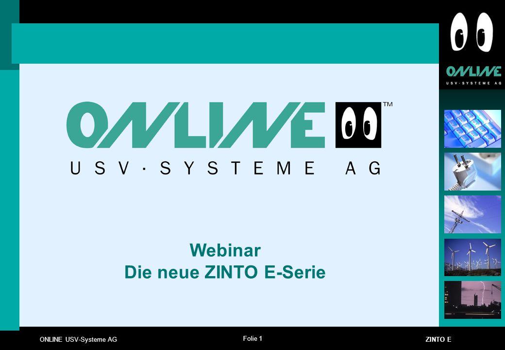 Webinar Die neue ZINTO E-Serie