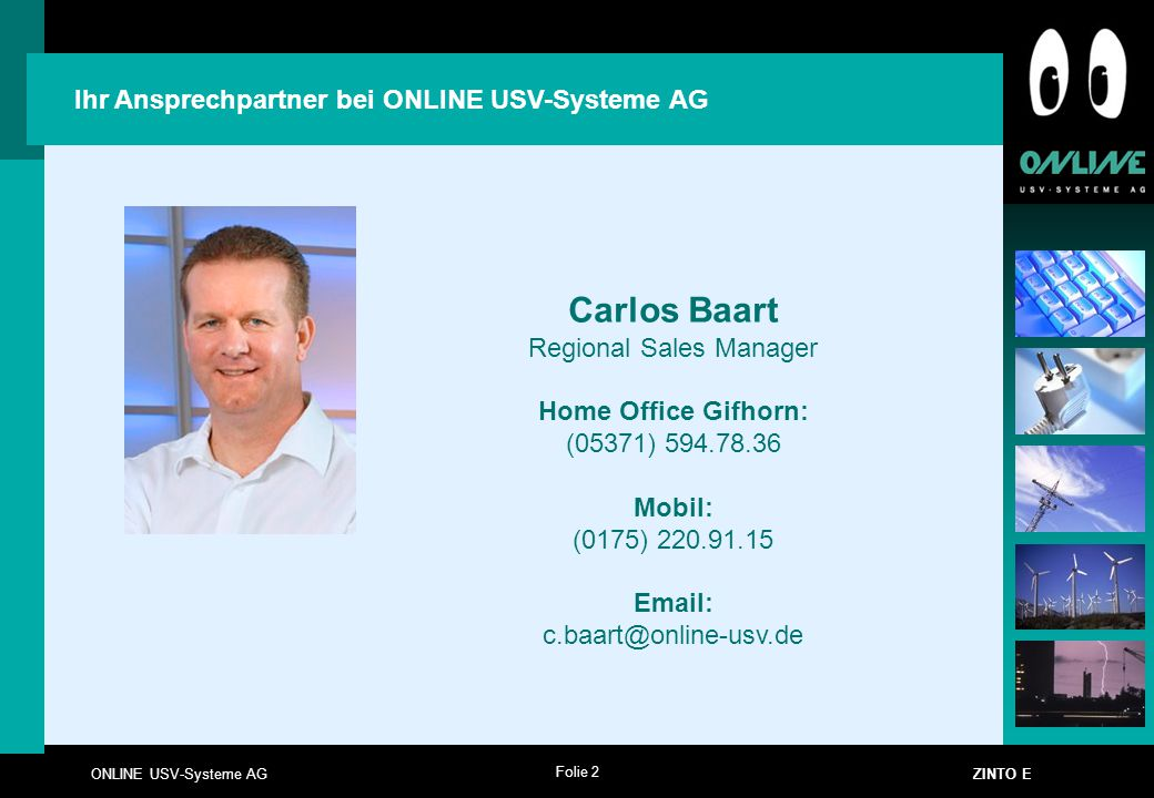 Ihr Ansprechpartner bei ONLINE USV-Systeme AG