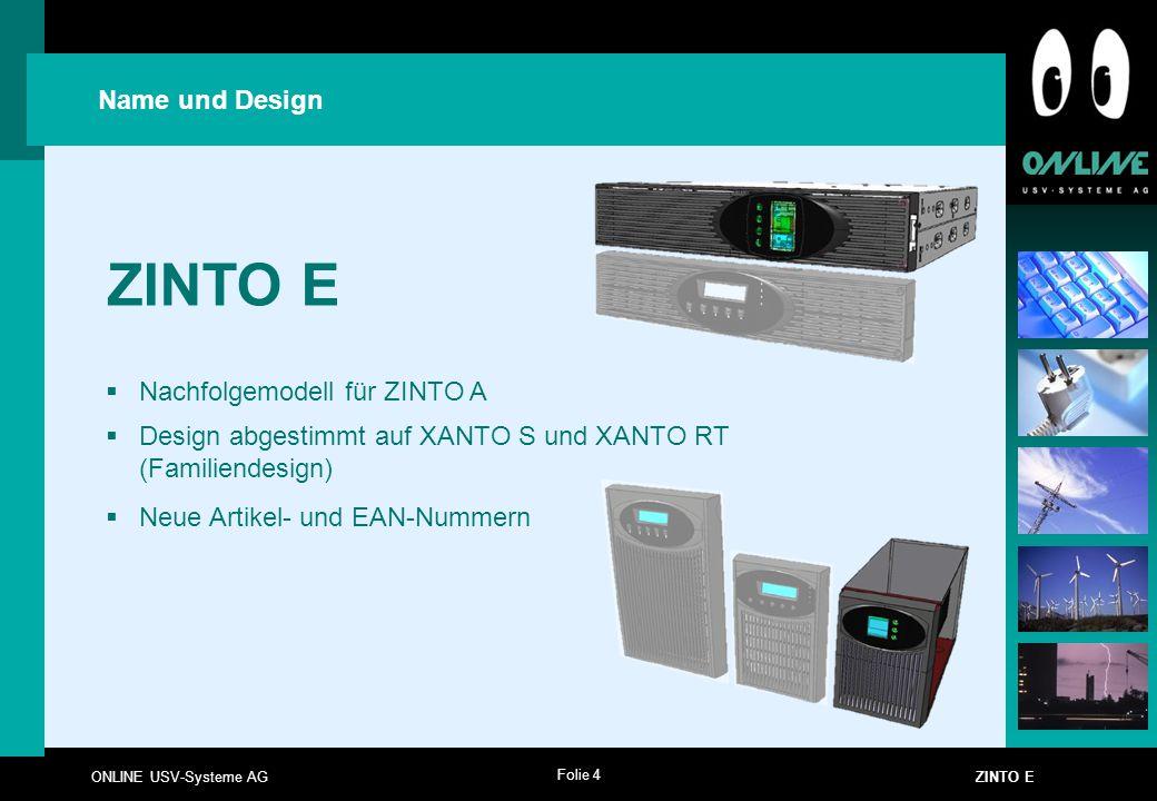 ZINTO E Name und Design Nachfolgemodell für ZINTO A