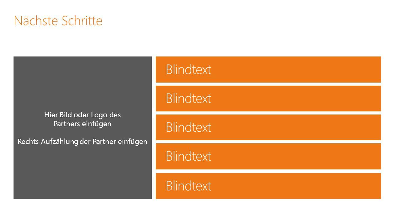 Blindtext Blindtext Blindtext Blindtext Blindtext Nächste Schritte