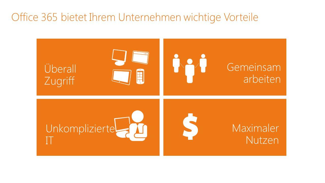 Office 365 bietet Ihrem Unternehmen wichtige Vorteile