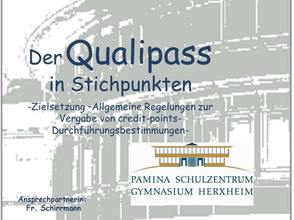 Der Qualipass in Stichpunkten