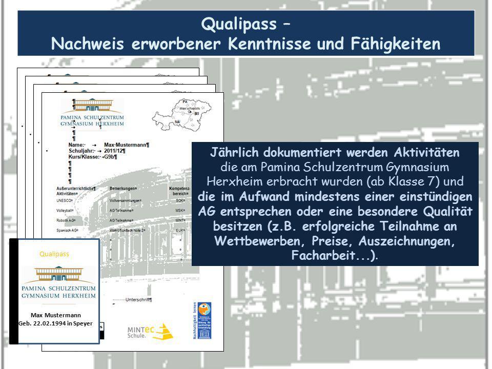 Qualipass – Nachweis erworbener Kenntnisse und Fähigkeiten