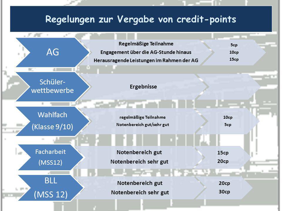 AG Regelungen zur Vergabe von credit-points BLL (MSS 12)