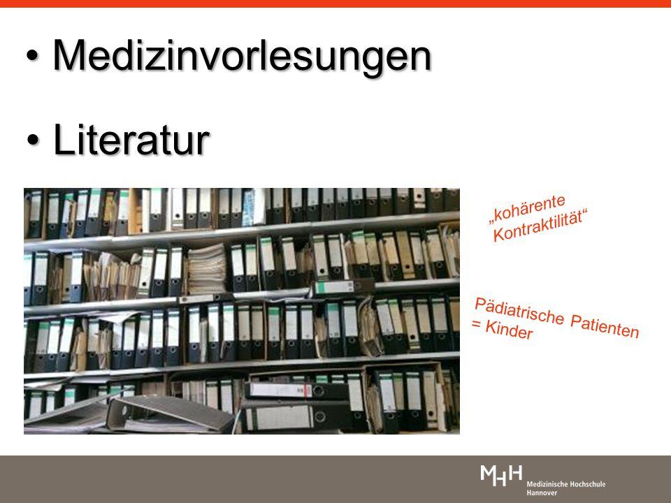 """Medizinvorlesungen Literatur """"kohärente Kontraktilität"""
