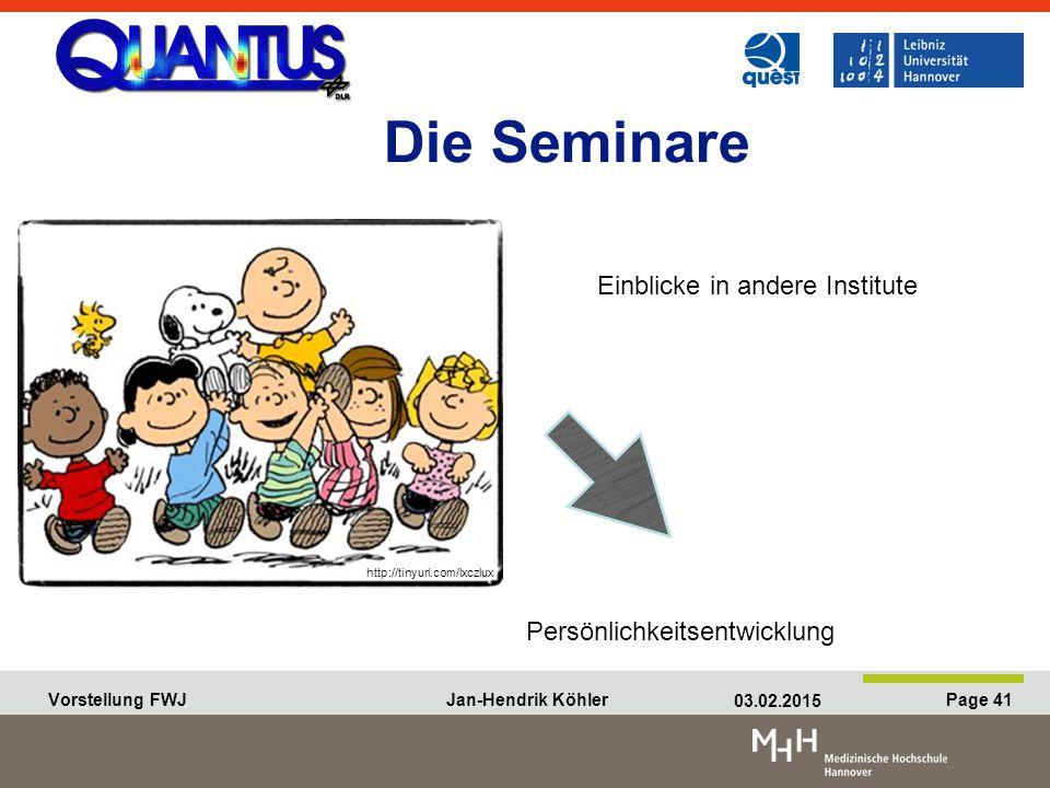 Die Seminare Einblicke in andere Institute Persönlichkeitsentwicklung