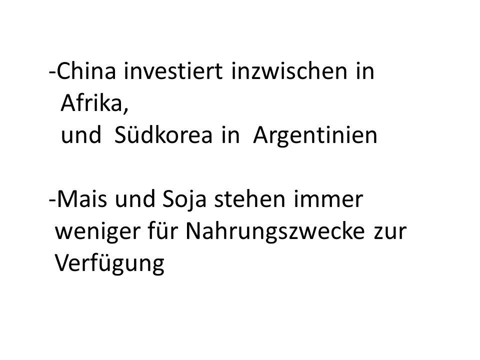 -China investiert inzwischen in