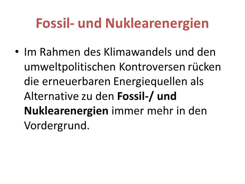 Fossil- und Nuklearenergien