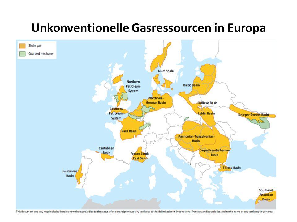 Unkonventionelle Gasressourcen in Europa