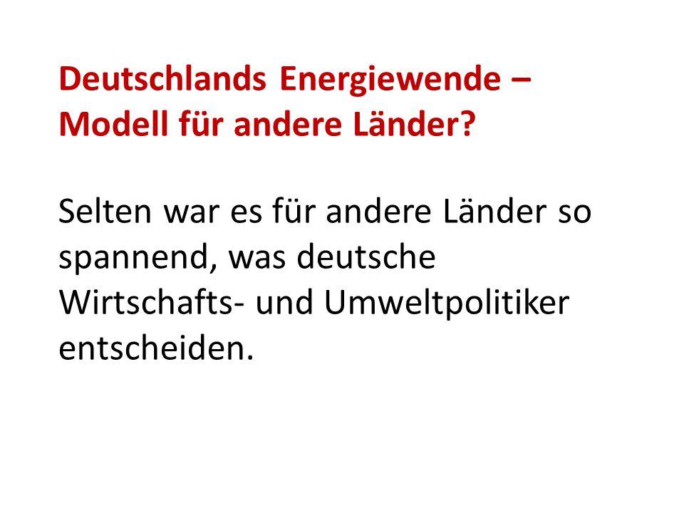 Deutschlands Energiewende –