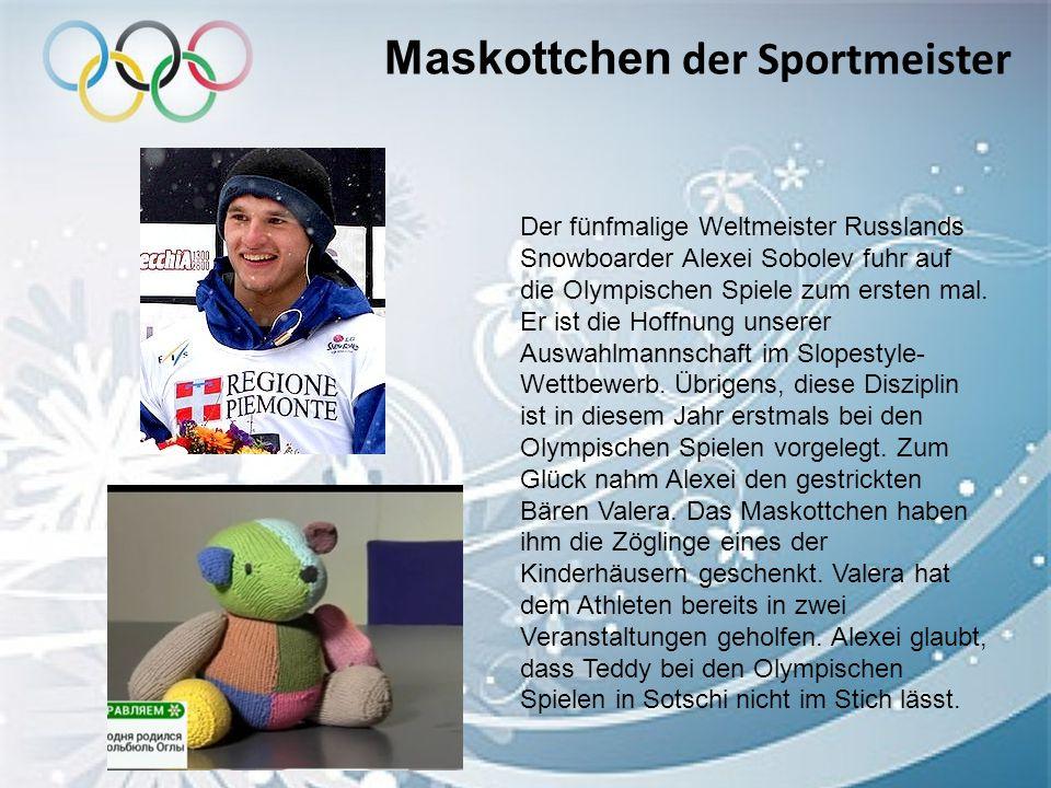 Maskottchen der Sportmeister
