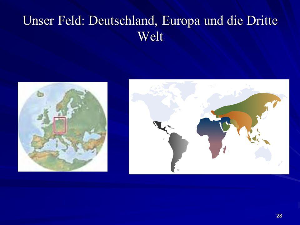 Unser Feld: Deutschland, Europa und die Dritte Welt