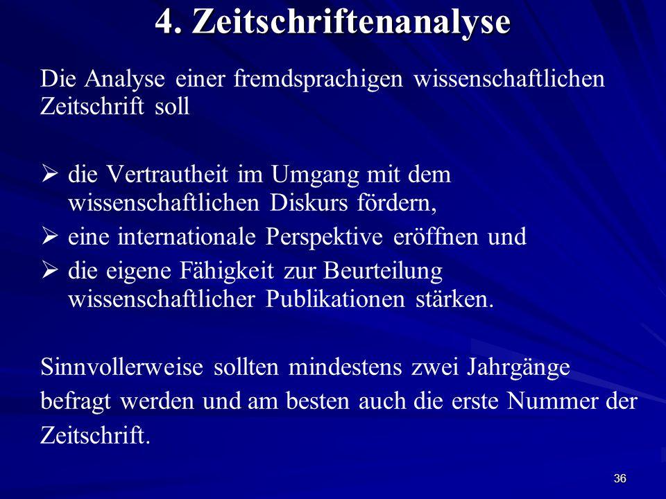 4. Zeitschriftenanalyse