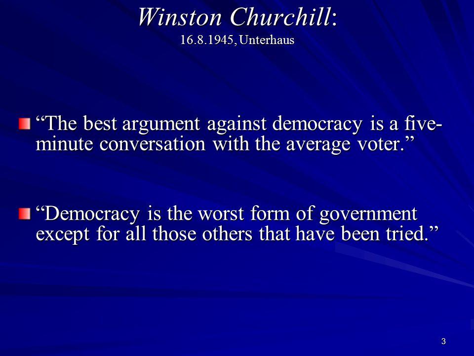 Winston Churchill: 16.8.1945, Unterhaus