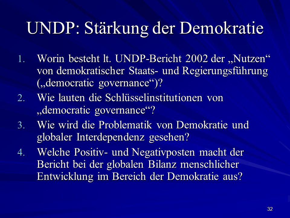 UNDP: Stärkung der Demokratie