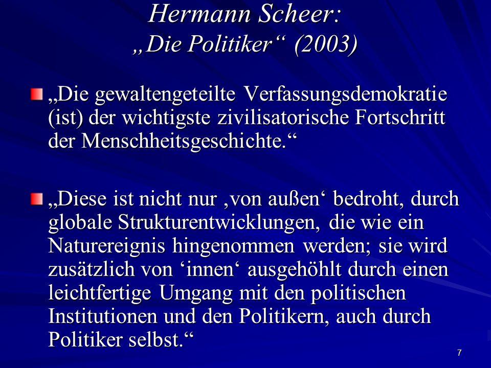"""Hermann Scheer: """"Die Politiker (2003)"""