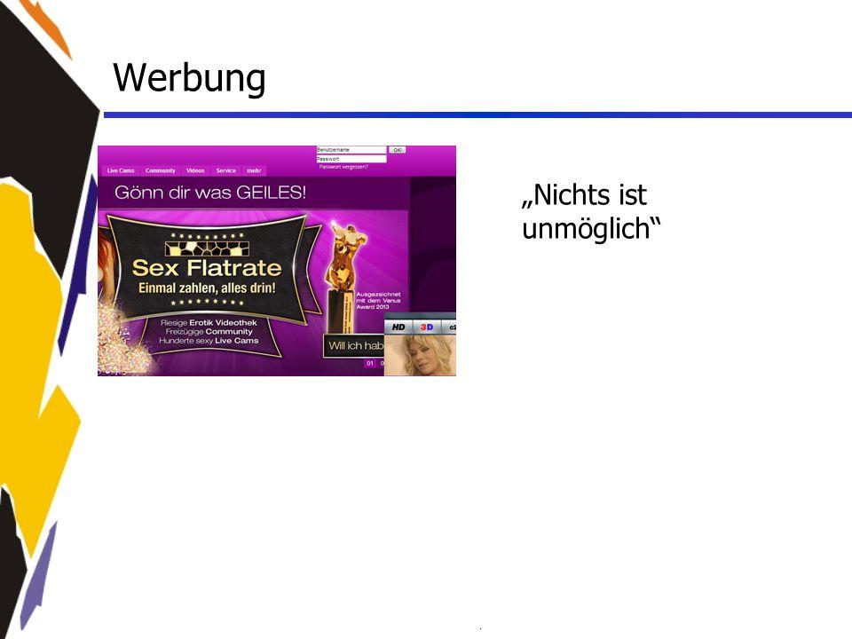 """Werbung """"Nichts ist unmöglich"""